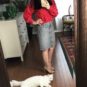 Vintage Red White polka dot Levi Strauss blouse